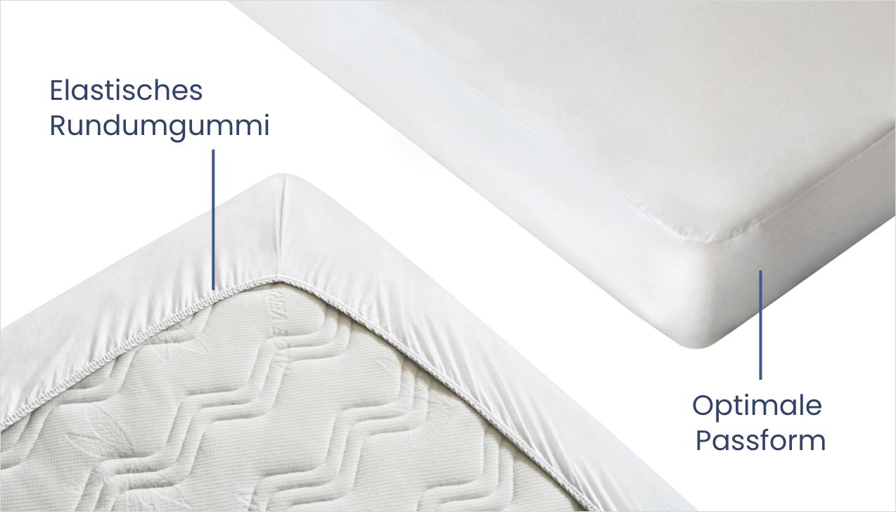 Elastisches Rundumgummi und optimale Passform für besten Schlafkomfort