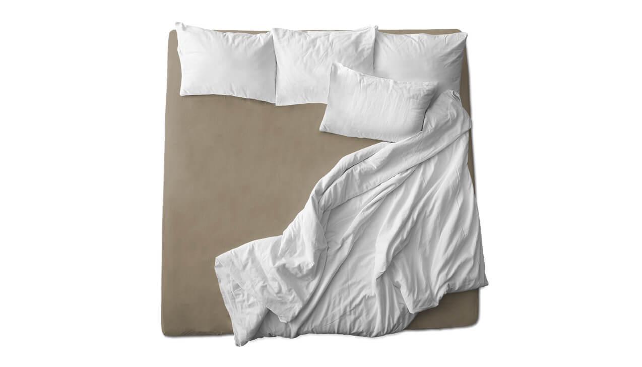 Schaflux Jersey Spannbettlaken allFit für Matratze in Beigebraun