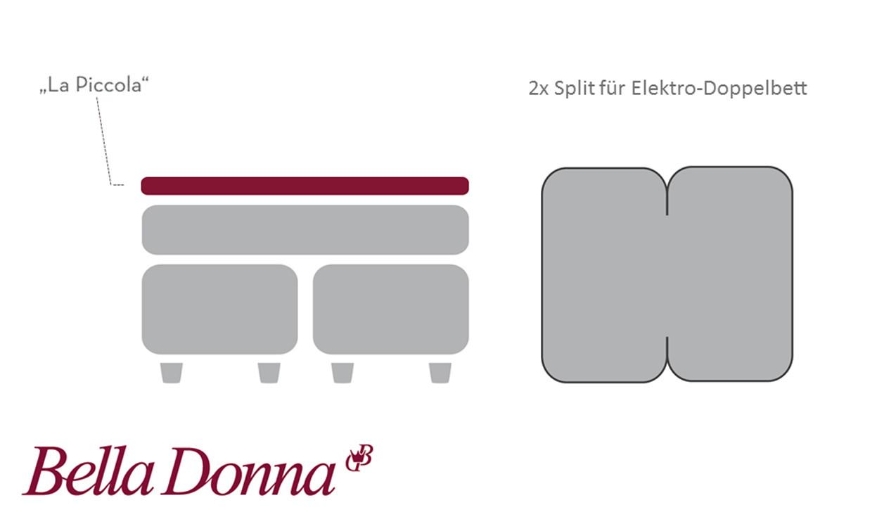 Bella Donna La Piccola Spannbettlaken für Topper bis 10 cm Höhe