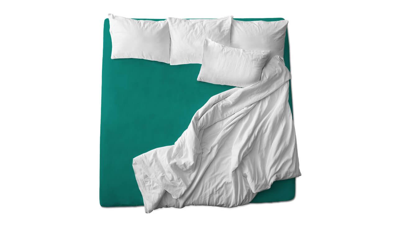 Schaflux Jersey Spannbettlaken allFit für Topper in Grün