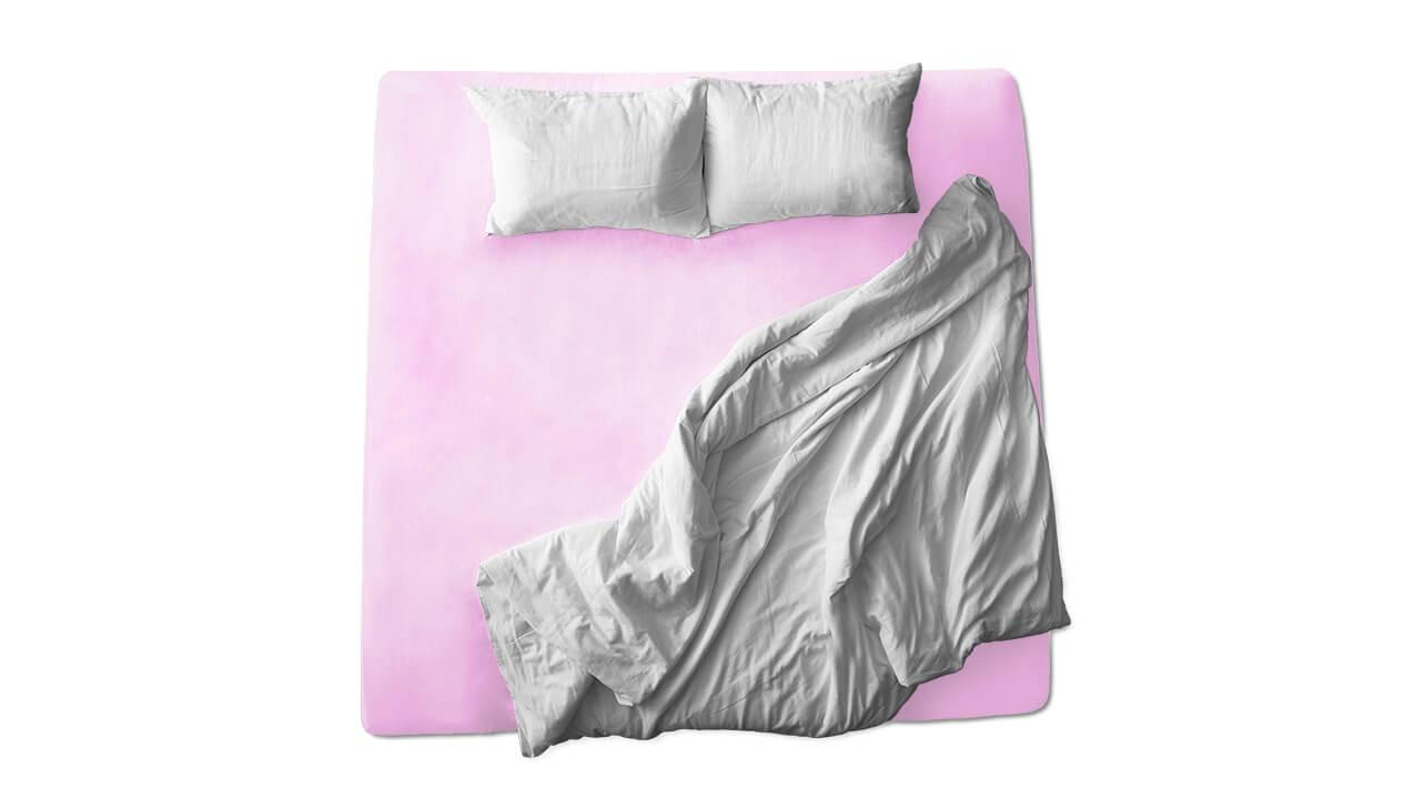 Schaflux Jersey Spannbettlaken allFit für Matratze in Rosa