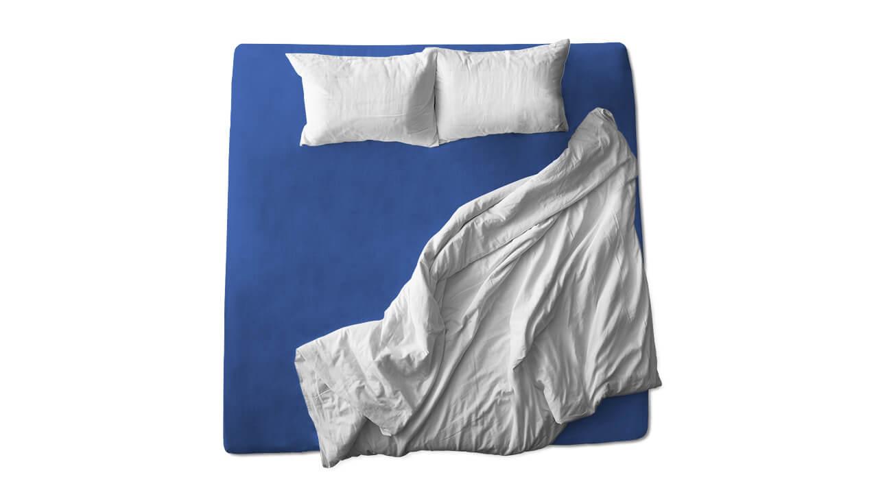 Schaflux Jersey Spannbettlaken allFit für Matratze in Royalblau
