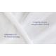 Liegeseite mit feuchtigkeitsregulierendem Tencel, Unterseite mit atmungsaktiver PU-Beschichtung